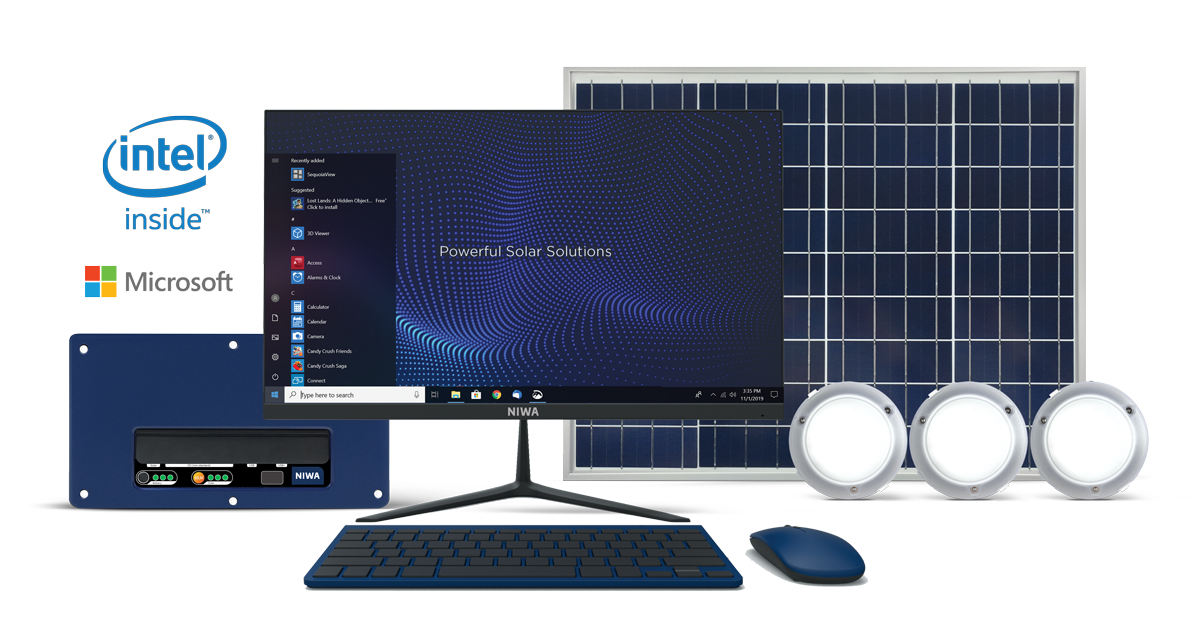 NIWA-Windows-Intel-Computer-Energy-50W-Solar-System