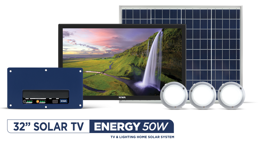NIWA-32'-Satellite-TV-&-ENERGY-50W-Solar-System