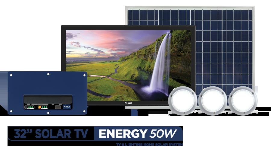 NIWA-32'-Satellite-TV-&-ENERGY-50W-Solar-System